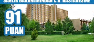 Sağlık Bakanlığından C.Ü. Hastanesine 91 Puan