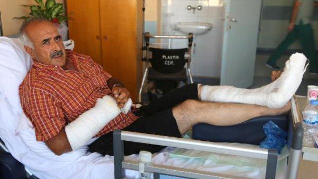 Traktörden Düşen Ateş Alan Tüfek ile Yaralandı